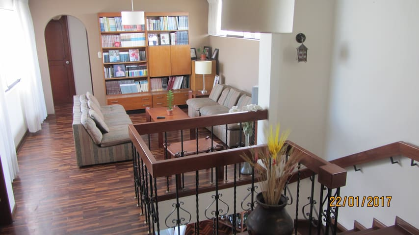 Room in ample duplex apartment in San Borja
