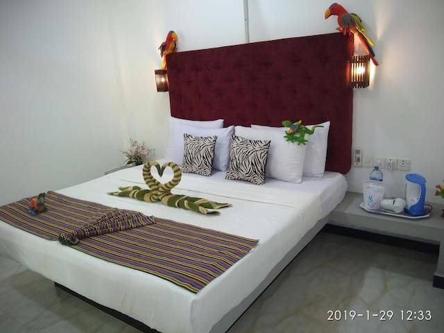 Mirissa,Double Room with AC,Breakfast,Near 2 BEACH