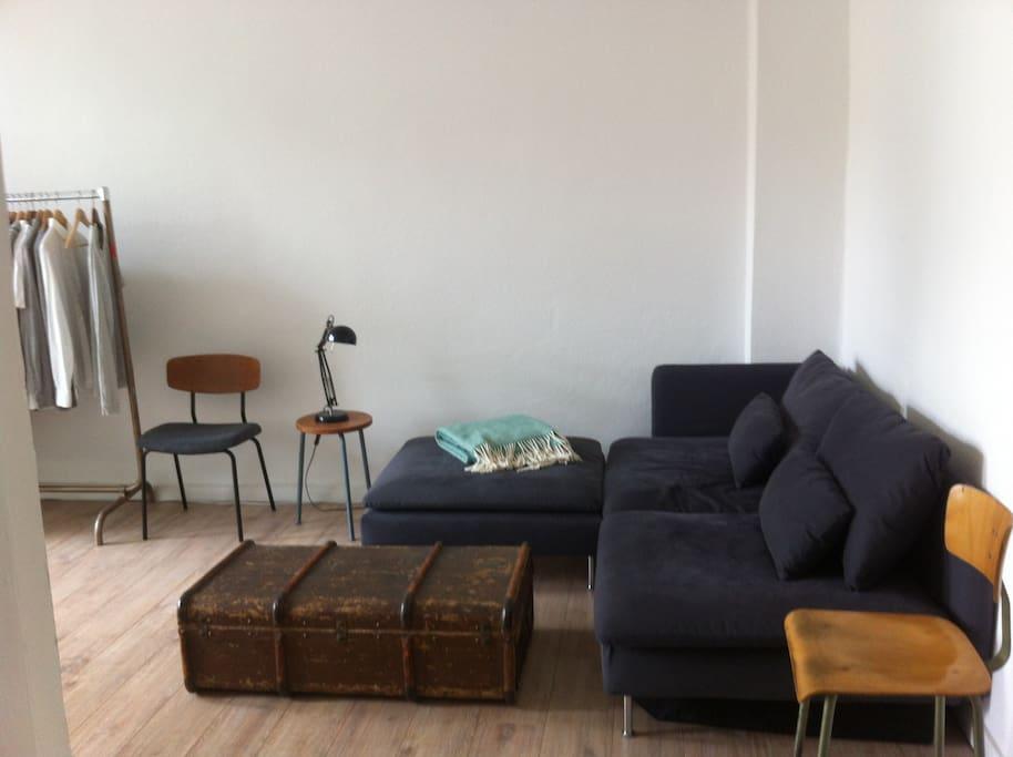 the sleeping/living room