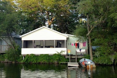 Lake Cottage,  Right on the Water! - Delton