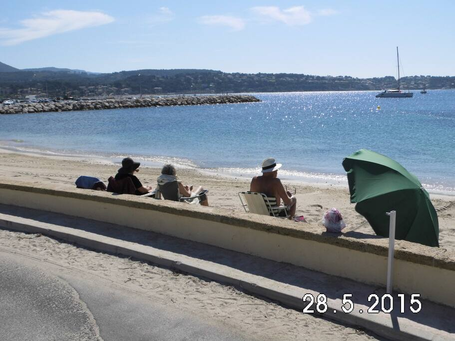 One beach of many in Bandol