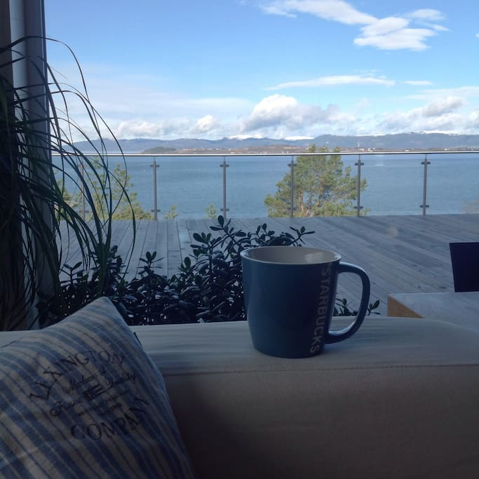 The view - very nice with a cup of coffee :-)