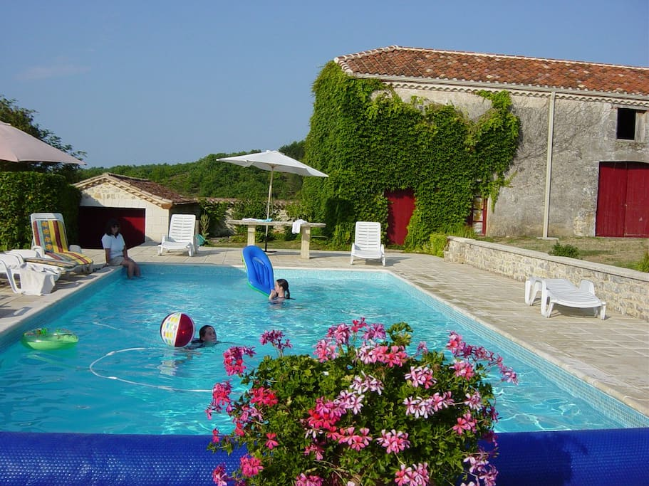 Private pool with heating if required