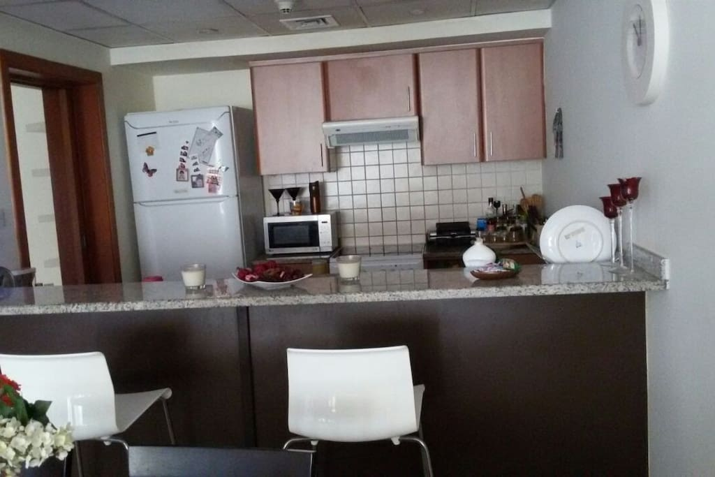 Kitchen (Microwave,  cook, fridge, dishwasher, toaster, electric grill, boiler, clean utensils)