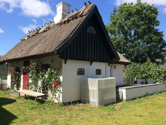 Cosy thatched house in the old town - Gørlev