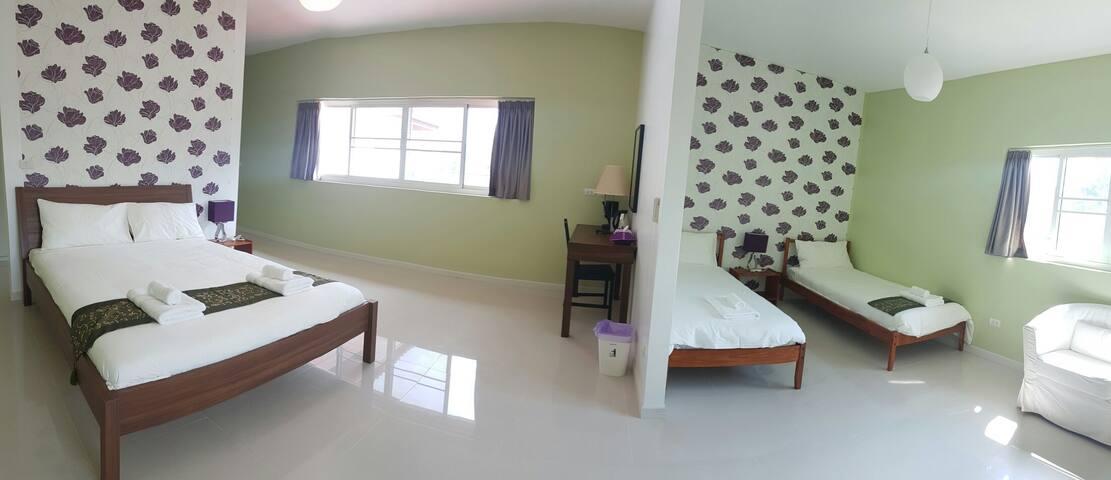 Family Room, Mountain view,4 Person - ตำบล ปากน้ำปราณ, ประจวบคีรีขันธ์, TH - Bed & Breakfast