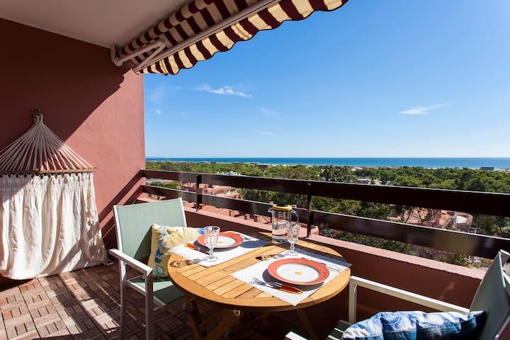 Ocean view studio 7 min. walk from the beach - Costa da Caparica - Lägenhet