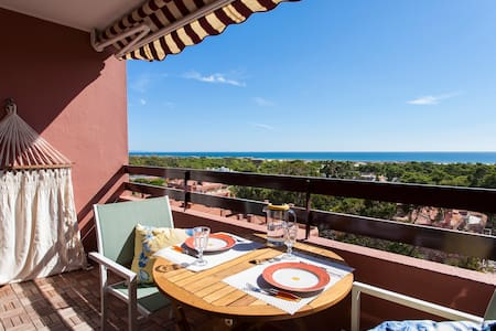 Ocean view studio 7 min. walk from the beach - Costa da Caparica - Apartamento