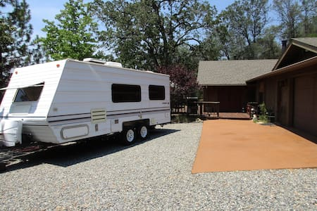 Camper with outside deck and view! - Camper/RV