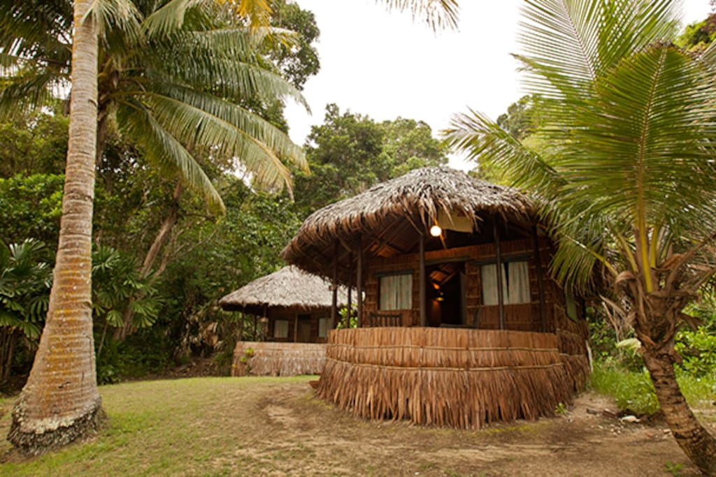 All of our Kenyan Style Beach Front Chalets overlook the Sea and are just steps to our own Private Beach