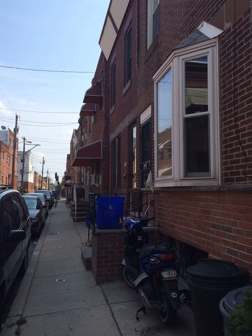 S Philly side street with the right address and location to get around.