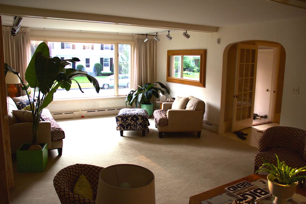Large Sitting Room with two sitting areas and big picture window
