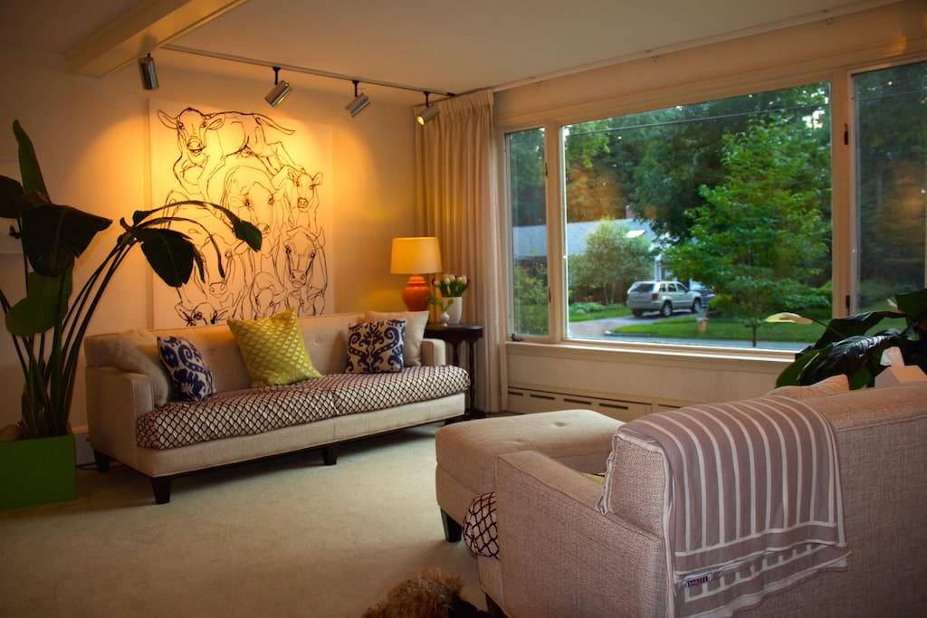 Large Sitting Room with two sitting areas