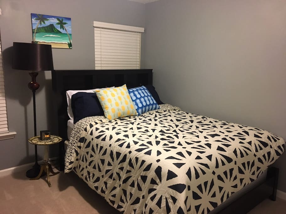 Guest Room #1:  Queen size bed, dresser, closet, and private bedroom.   Keyed entry for privacy.