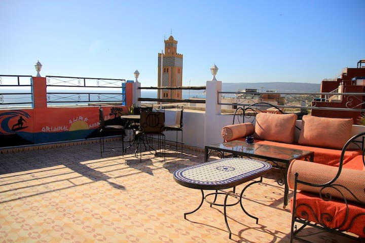 Double Room in a Surf Camp - Agadir - House