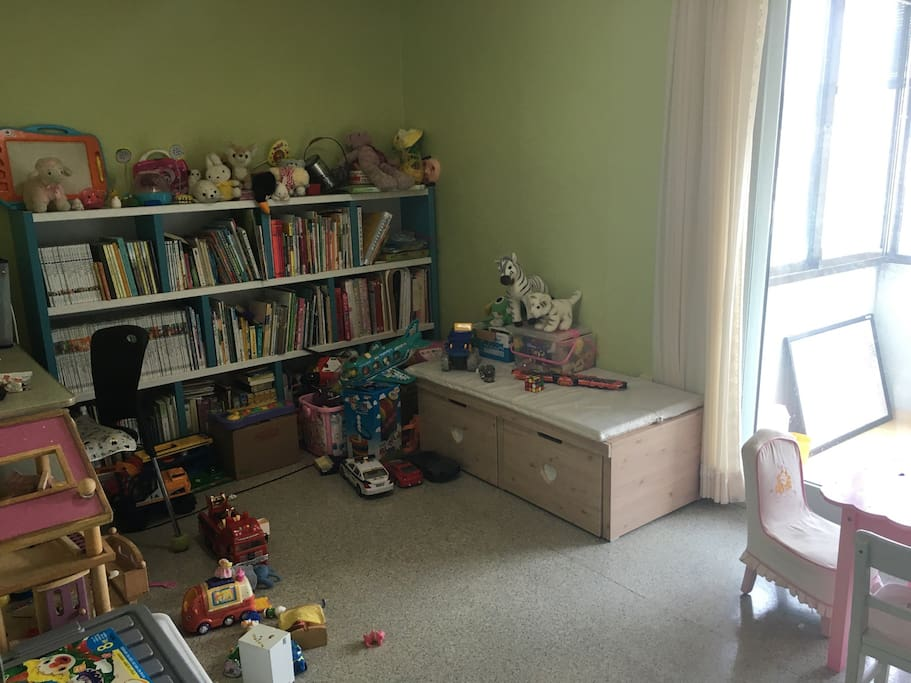 Toys and books for kids
