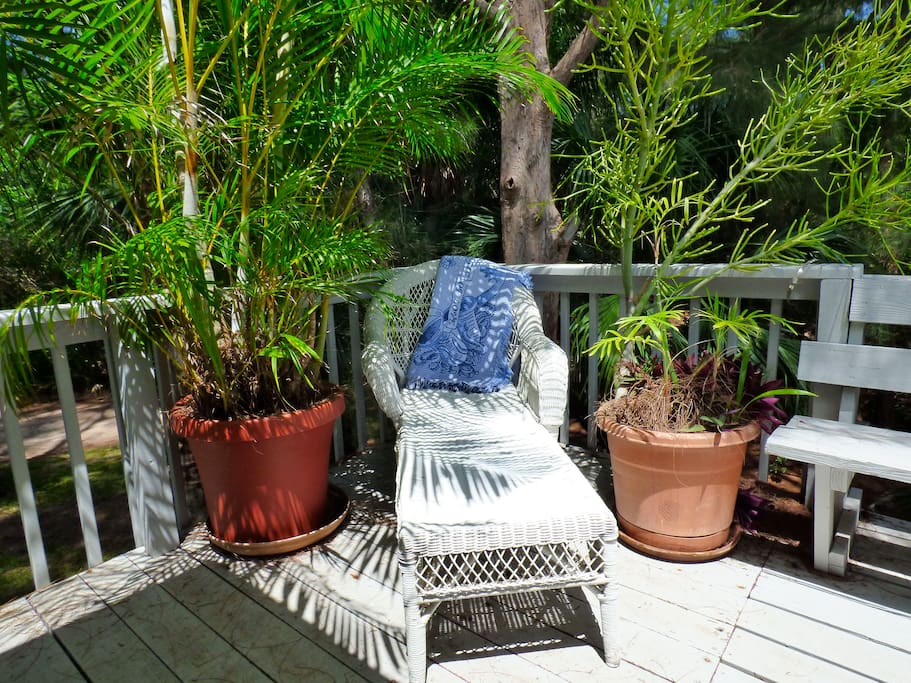 Lots of open air porches for relaxing in the sunshine.