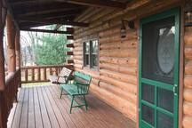 Porch Swing offer Great Place To Relax with Wonderful Views of the Pond and Surrounding Hills.