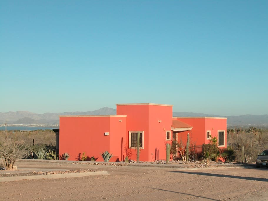 our house overlooking Bay of La Paz