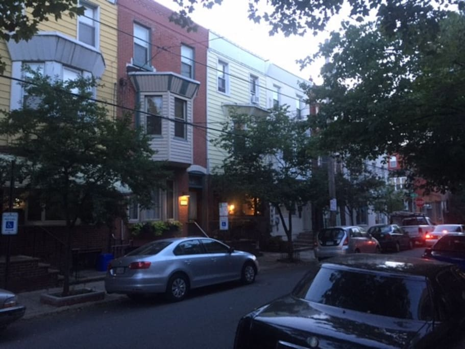 The house is located on a quaint block in a very popular neighborhood near many excellent restaurants.