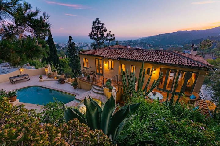 Iconic Hollywood Hills Silent Screen Star Home