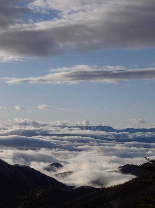 見晴し台からの雲海の眺め
