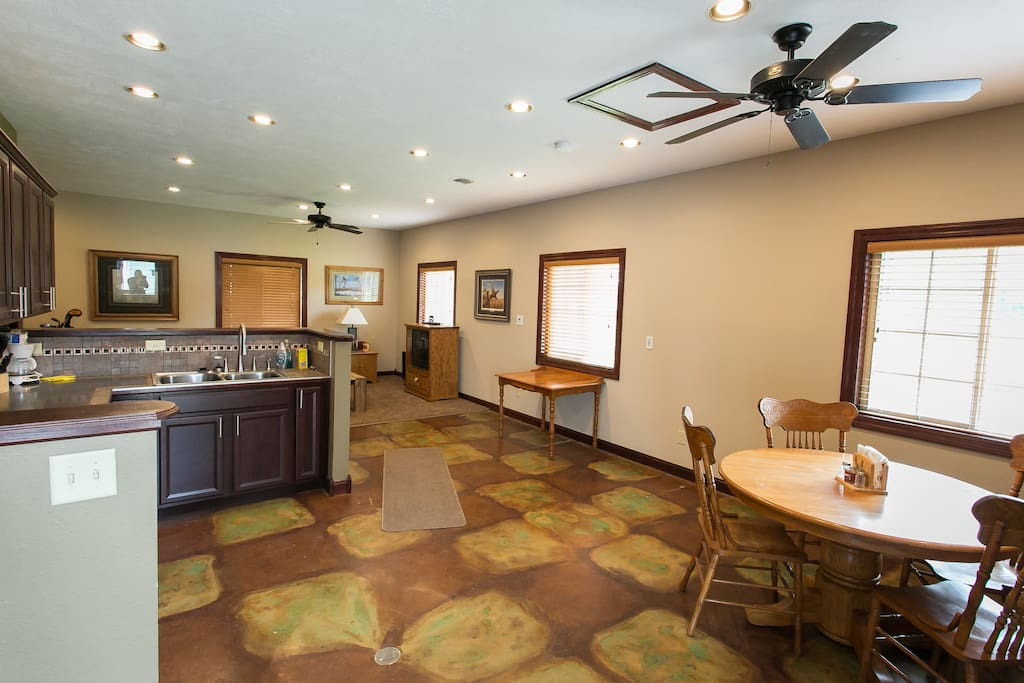 As you walk in, this is your view of the apartment. The whole space is yours. Enjoy!