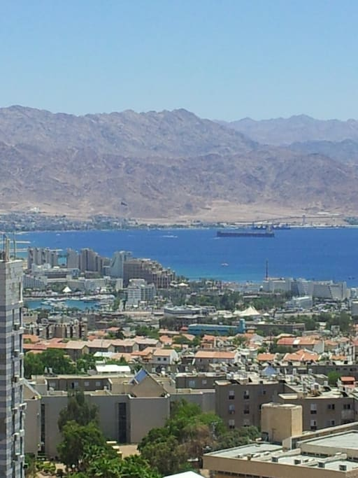 The building's beautiful view: Red-Sea bay