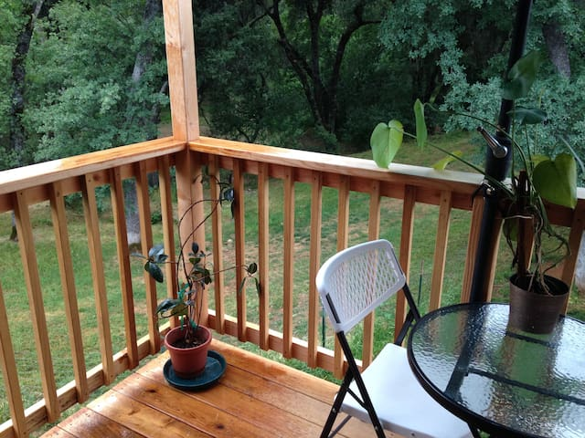 Private Deck/Outdoor Dining w/View of property and sunsets
