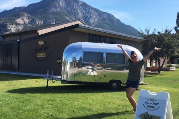 Lussier Hot Springs Vintage Airstream retreat