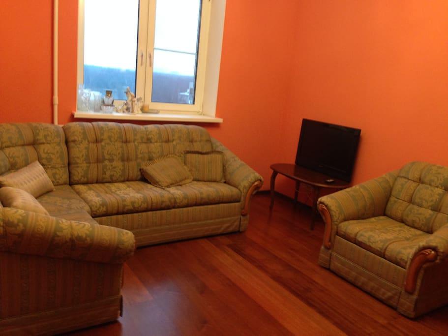 Гостиная (Диван-Кровать + Кресло-кровать + ТВ)