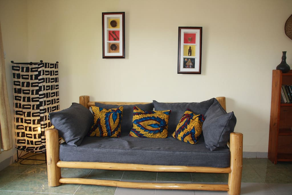 large couch in living room