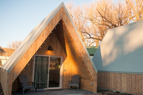 A-frame Boutique camping @ Tiny Town Campground