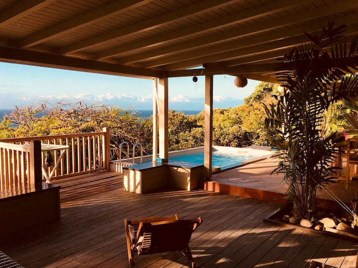 KAZ A REVE, villa vue mer avec piscine