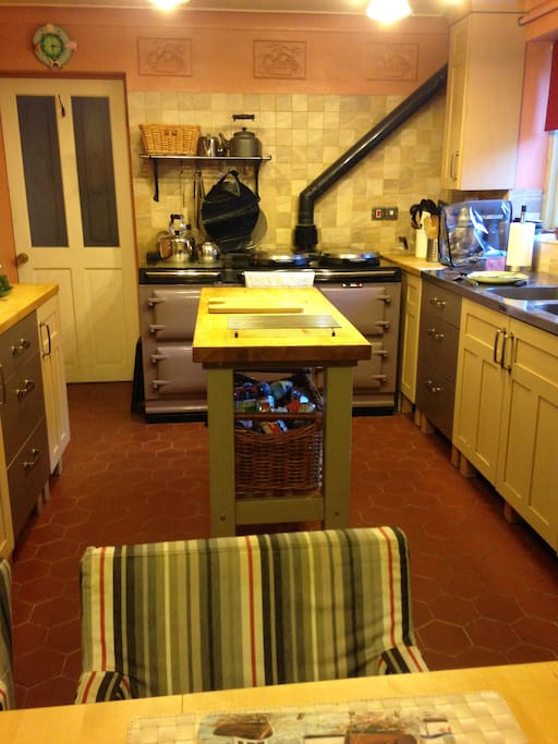 The kitchen at Wansley Manor Hotel