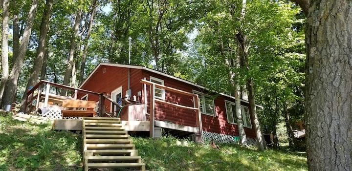 Little Red Cabin on Loveless Lake
