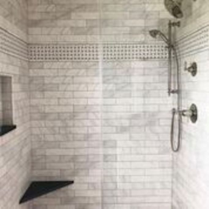 One of two showers