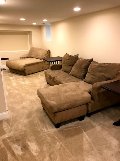 Basement Suite - Two Sleep Couches, Does Not Fold Out Further
