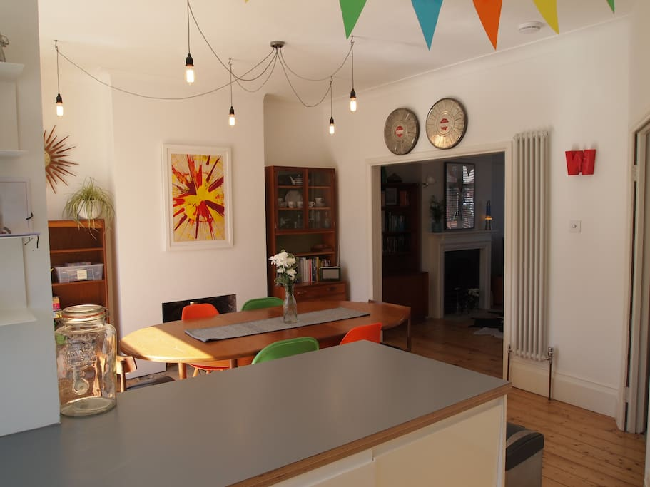 Dining space from kitchen area
