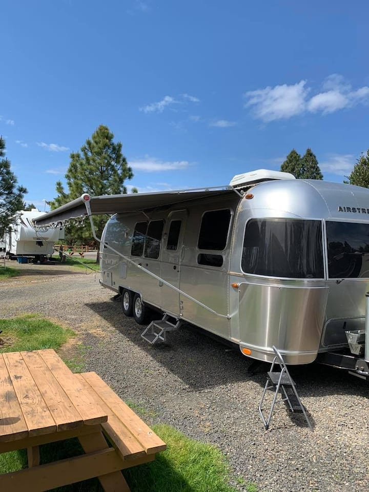 Clean and comfortable Airstream for family fun!