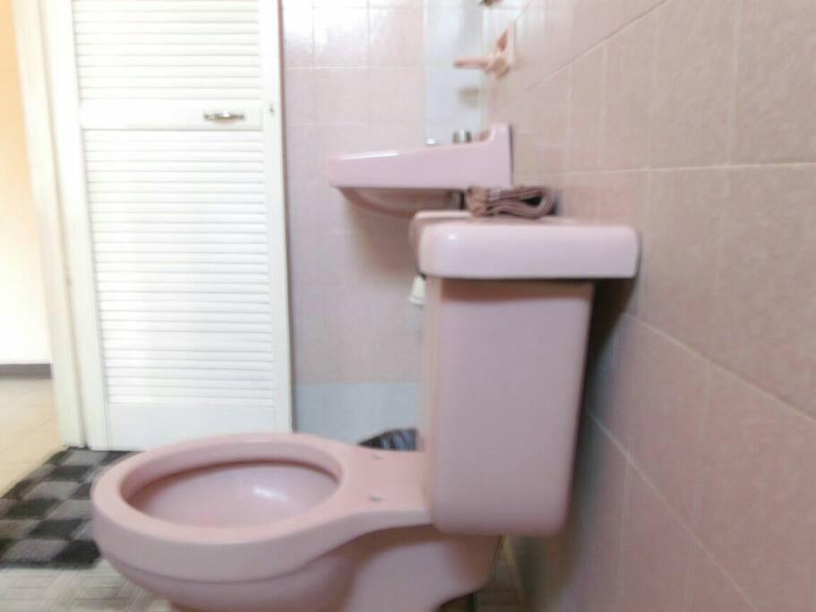 Baño completamente funcional siempre limpio con los detalles normales de uso.