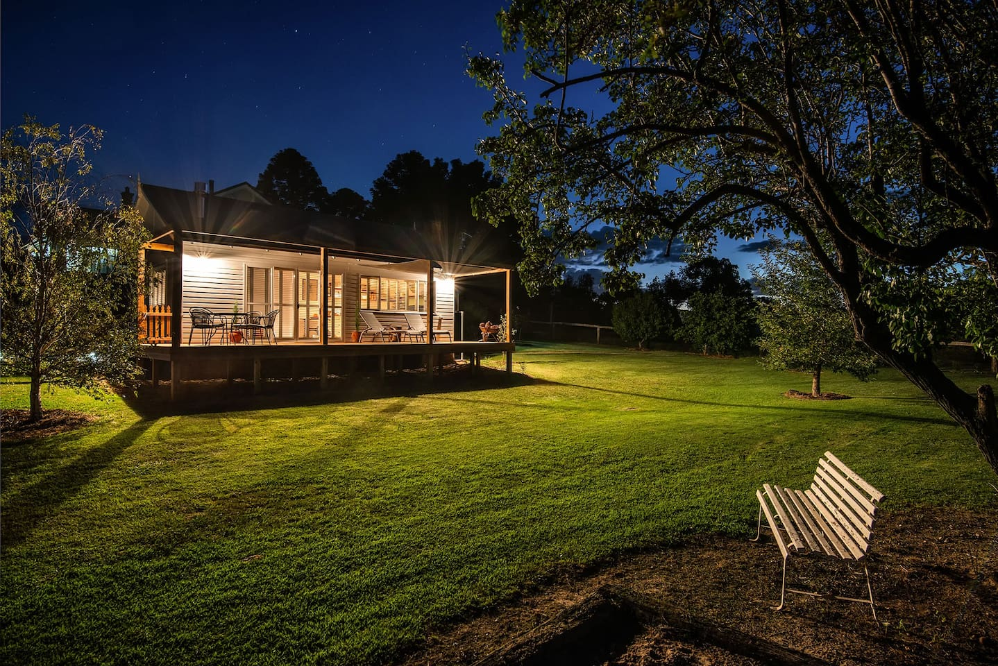 Tom's Cottage By Night