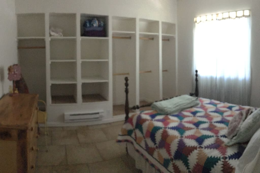 Bedroom showing storage
