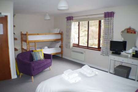 Strathassynt Guest House B&B Family room ensuite - Glencoe - Penzion (B&B)