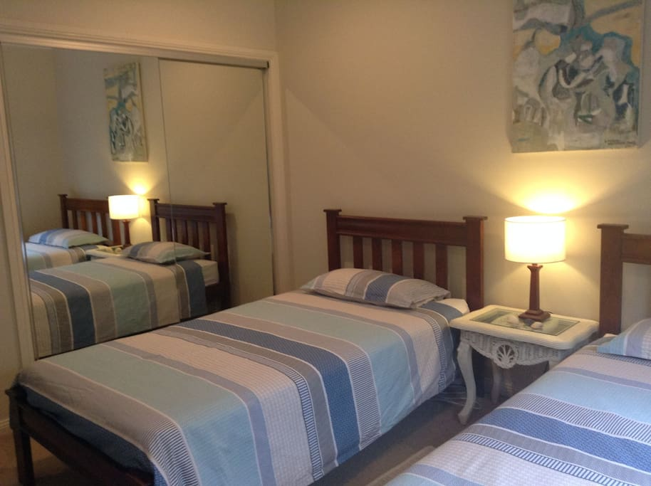Two king size single comfortable beds  beds