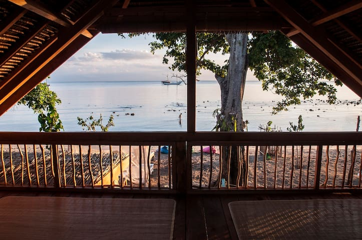 peacefull sunset in the natural island - Sumbawa Regency - Bungalow
