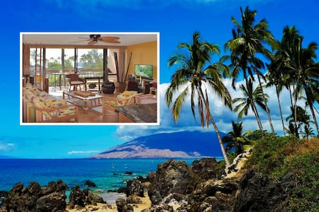 1 BR Tiki-Style Condo at Maui Vista steps to beach - キヘイ