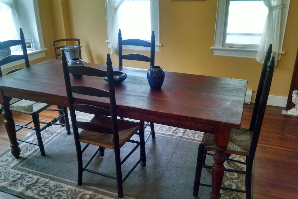 Dining Room with farm table