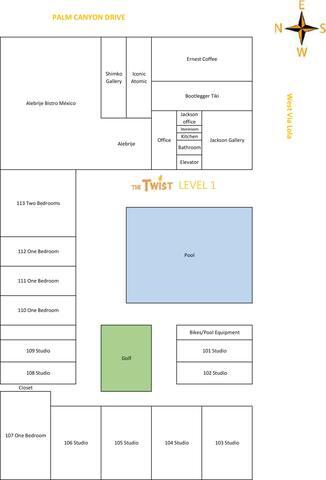 TwistPS: Modern 1BR Patio #107