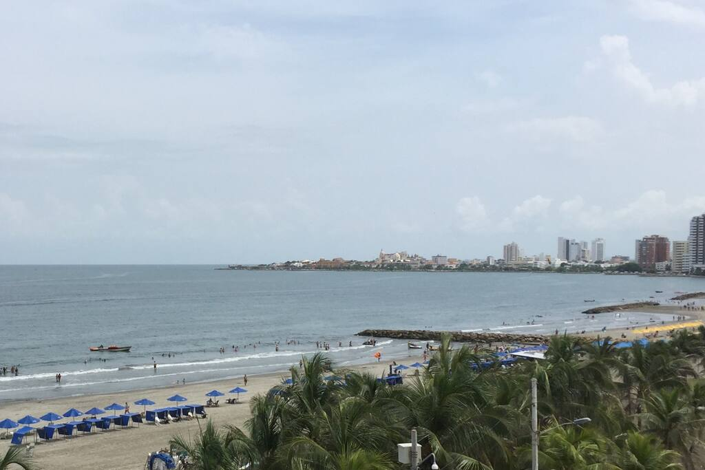 view of beach and Old Cartagena